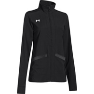 ua pregame woven women's full zip jacket