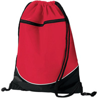 augusta tri-color drawstring backpack