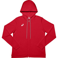 asics french terry full zip ladies hoody
