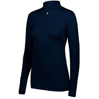 holloway striated ladies 1/2 zip pullove