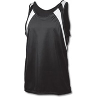 youth wicking tank w/ shoulder panel