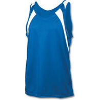adult wicking tank w/ shoulder panel