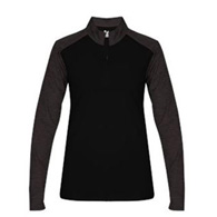 badger sport tonal blend ladies 1/4 zip