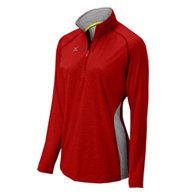 mizuno elite 9 fire 1/2 zip jacket