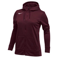 nike therma women's fz training hoodie