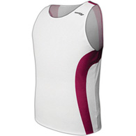saucony hyperlite youth singlet - white