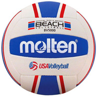 molten elite beach volleyball (r/w/blue)