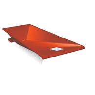 cast aluminum vault box orange