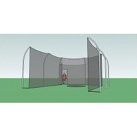 h.s. aluminum rear entry discus cage