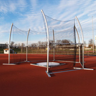 aae high school portable discus cage