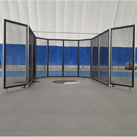 aae portable indoor weight cage w/ gates