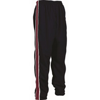 ck custom warm-up pants, rib-knit panel